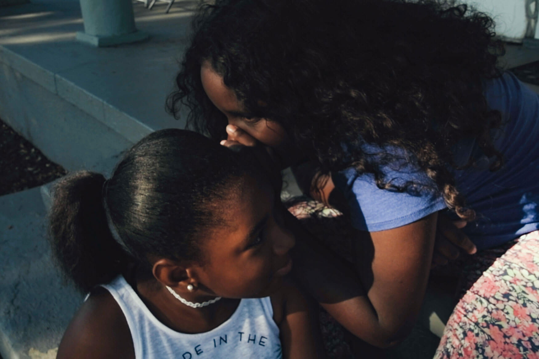 Two black girls perform in the oscar nominated short documentary A Love Song For Latasha by Netflix