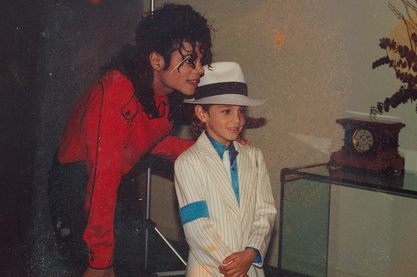 Michael Jackson poses with Wade Robson as a child in the documentary Leaving Neverland