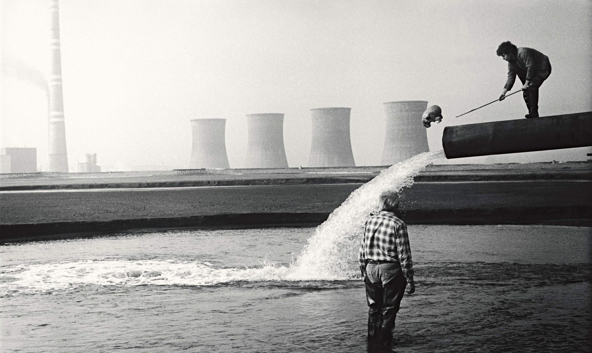 Two men in an oil industry in the Oscar nominated short film Oil Globbers