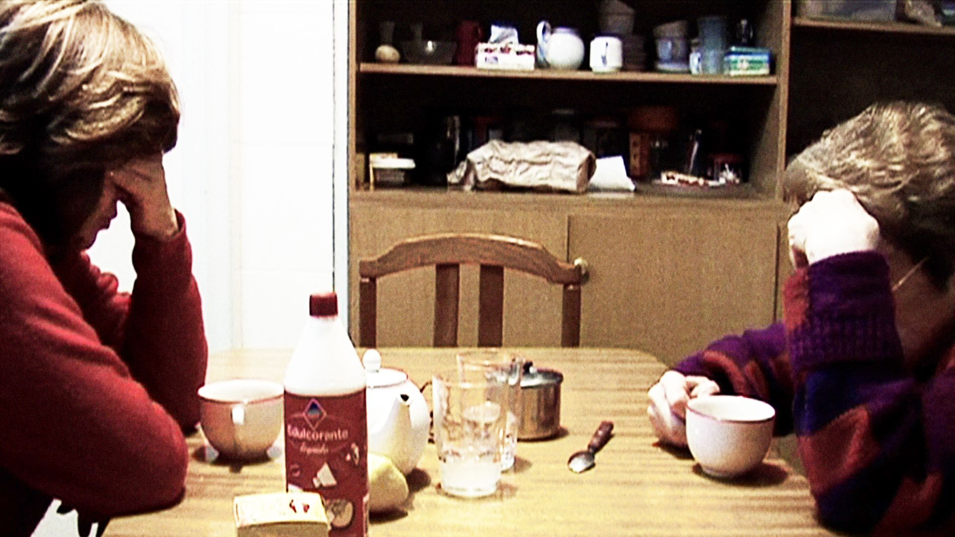 Two women, mother and daughter, are worried in the documentary The Flowers Of My Family