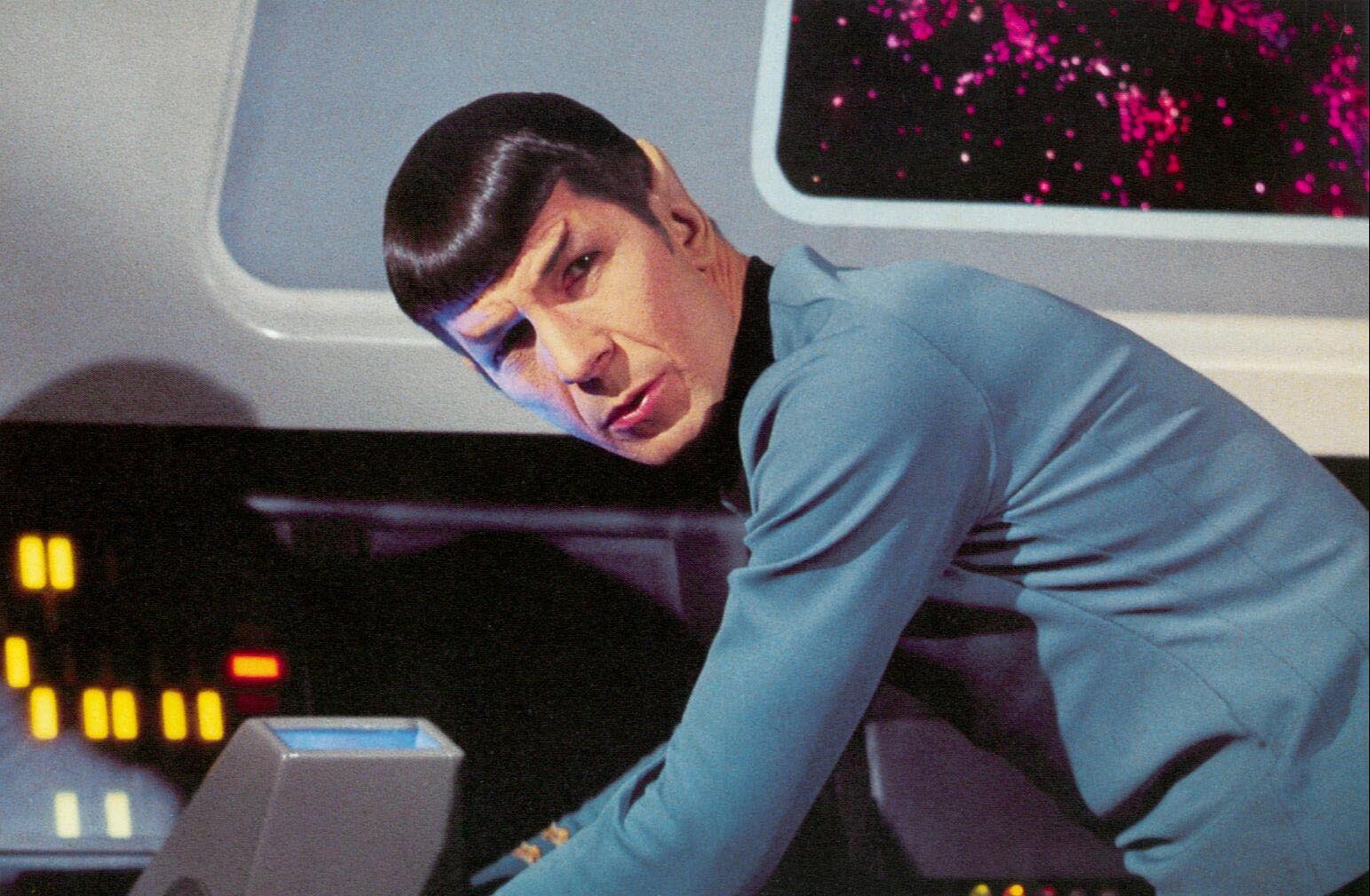 Leonard Nimoy as Doctor Spock in Star-Treck