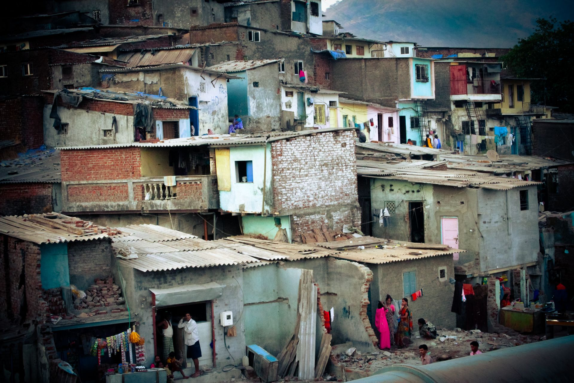 Slums in the South American andes