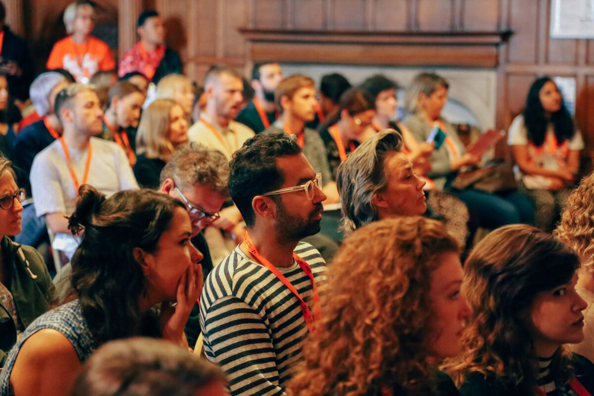 Participants hear a panel discussion at the Sheffield DocFest