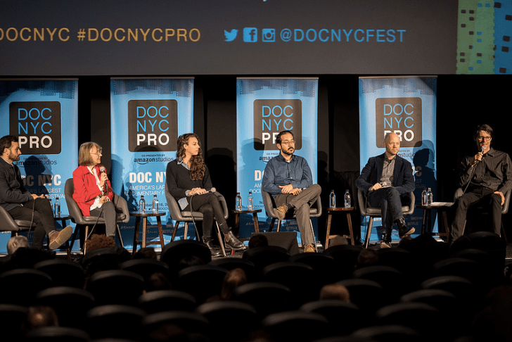 A panel discussion as part of the activities of DOC NY