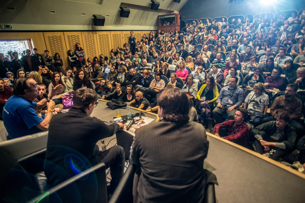A panel discussion at the Ji.hlava International Documentary Film Festival