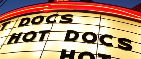 the cinema marquee of the Hot Docs Theater Ted Rogers