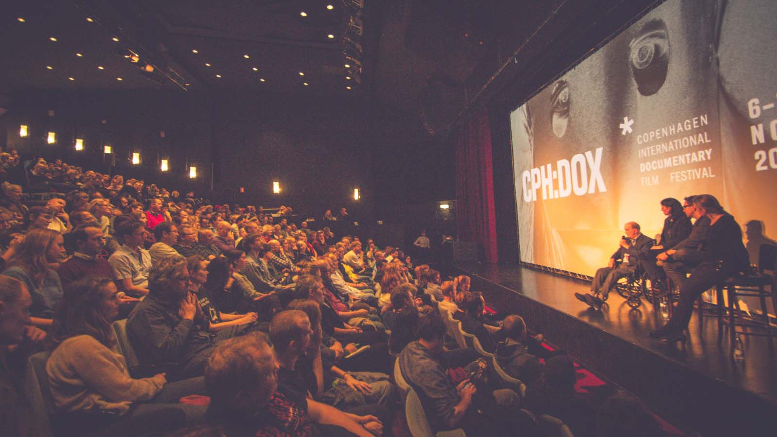 A packed cinema theatre at the CPH:DOX Film Festival